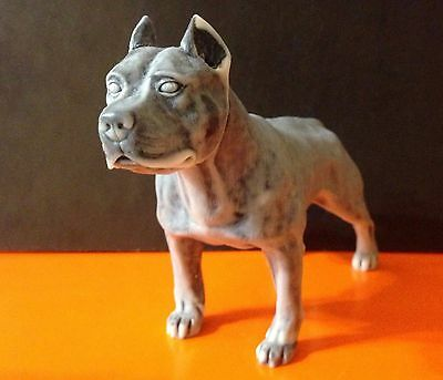 Statuette American Staffordshire Terrier  of the marble chips.