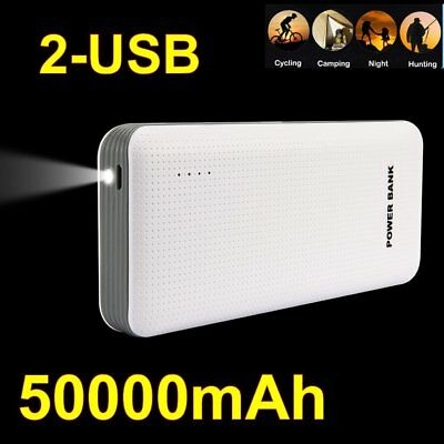Portable External Power Bank Battery Charger 50000mAh For iPhone HTC Samsung