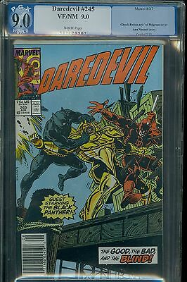 Daredevil 245 pgx cgc 9 Black Panther cover WHITE pages Marvel 1987