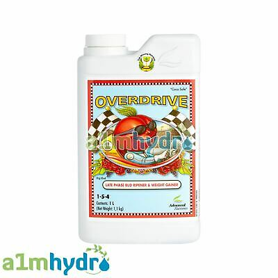 Advanced Nutrients Overdrive 1 Litre 1L Bud Flower Bloom Enhancer Hydroponics