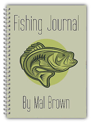 A5 PERSONALISED FISHING LOG BOOK// FISHING DIARY// FISHING GIFT PERSONALISED//01