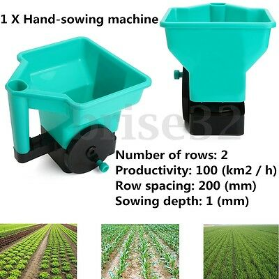 Hand Held Fertilizer Spreader Lawn Seed Weed Hand Sowing Machine 3L 2 Rows