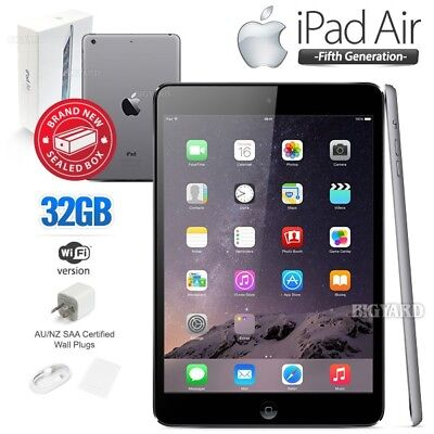 New In Sealed Box APPLE iPad Air 5th Gen Black 32GB Retina PC Tablet (WiFi Only)