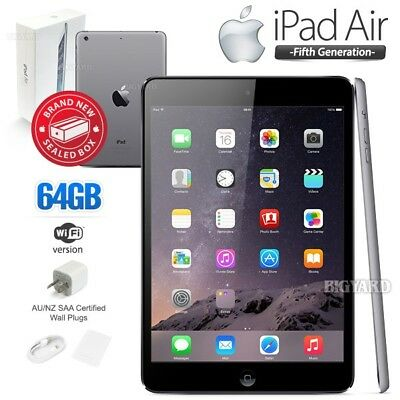 New In Sealed Box APPLE iPad Air 5th Gen Black 64GB Retina PC Tablet (WiFi Only)