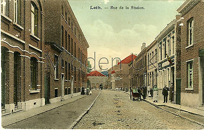 RA222 Early POSTCARD Stationsstraat - Lot/Loth - Bruxelles/Brussels Posted 1918
