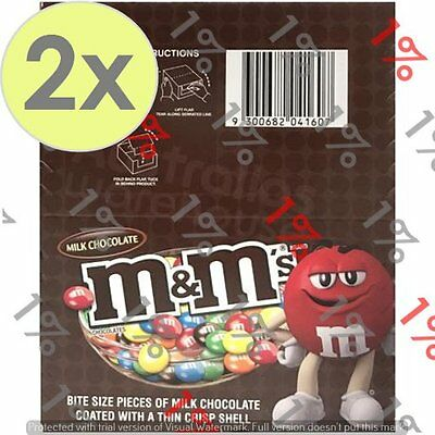 2x M&M's Milk Chocolate - 12 X 49 G