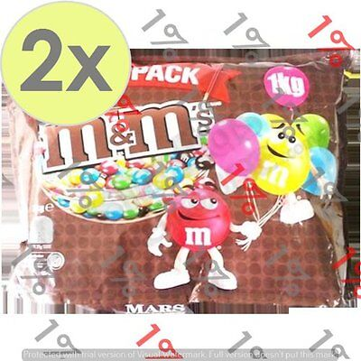2x M&M'S Milk Chocolate Party Pack - 1 KG