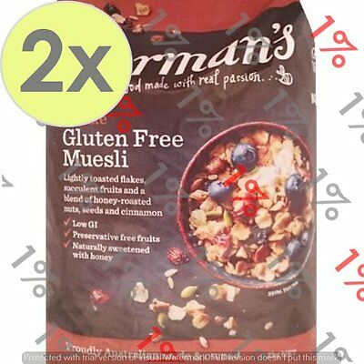 2x Carman's Deluxe Gluten Free Cereal - 1.2 KG