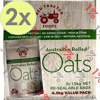 2x Red Tractor 100% Aus Rolled Oats - 4.5 KG