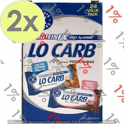 2x Aussie Bodies Protein FX Lo Carb Mini Bars - 24 X 30 G