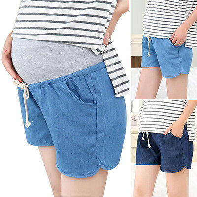 New Maternity Shorts Drawstring Pregnant Women Belly Pants Summer Short Trousers