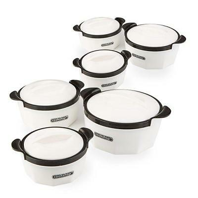 Cookshop Fiona Range Set of 6 Insulated Dishes for Warm/Cold Food
