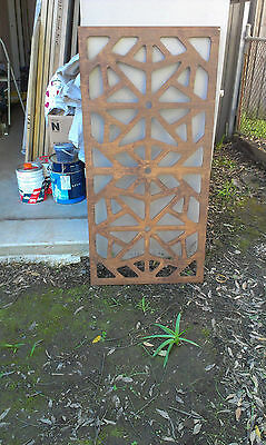 Moroccan timber screen wall art garden feature decorative screen etc
