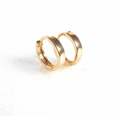 Tiny Small Thin Huggie Hoop Earrings Genuine 18k Gold Plated Child 12 5mm Uk