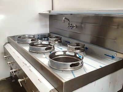 WOK Cooker - Chinese Style 5 Ring Burner Water Cooled