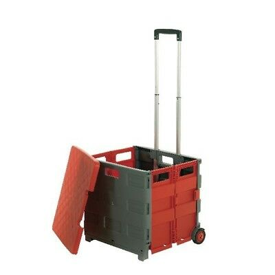 GPC Grey and Red Large Folding Box Truck with Lid (Pack of 1) GI042Y