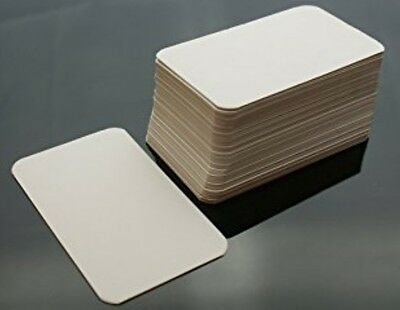 250x Blank FlashCards - Plain White index Revision Notes Early Learning Aid Card