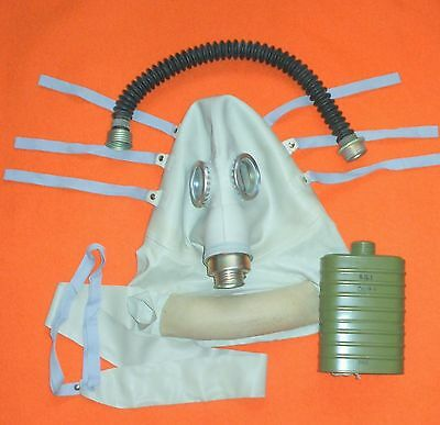 Rare Soviet Russian Polish Army Sr-1 Medical Gas Mask For Wounded Troops