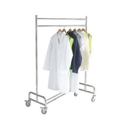 Chrome Stainless Steel Cloakroom Trolley (Pack of 1) 317970