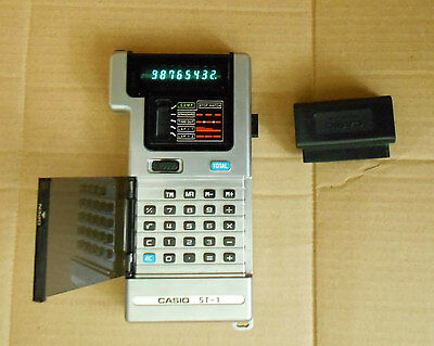 Vintage Casio ST - 1 Electronic Calculator & Stopwatch *WORKING* VGC