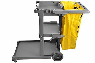 Cleaning Cart Janitor Housekeeping Commercial Supplies 25 Gallon Bag Janitorial