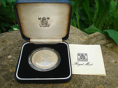 c1980 Silver Proof Commemorative Crown HM Queen Mother 80th, Guernsey