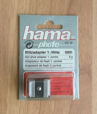 Hama Hot Shoe Adapter Camera Flash Adaptor Centre