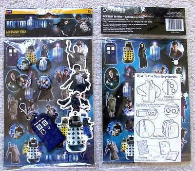 Dr Doctor Who officially licensed stickers shaped stickers badges pins bag clip