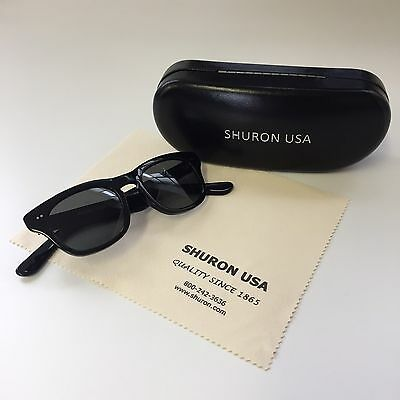 New Shuron Sidewinder Ebony With Grey Sunglasses, Size 48
