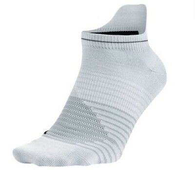 Nike Anti-Blister No-Show Tab Lightweight Running Socks White/Grey Size 6-10
