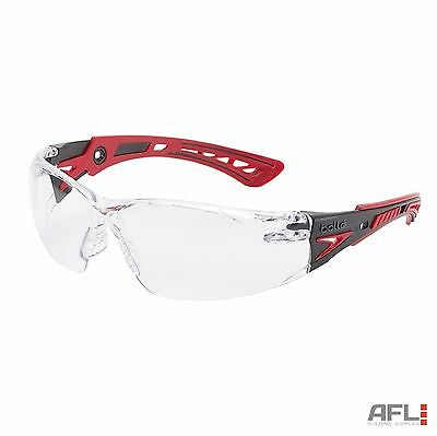 Bolle Rush+ RUSHPPSI Anti-Fog Anti-Scratch Safety Spectacles Glasses Clear Lens