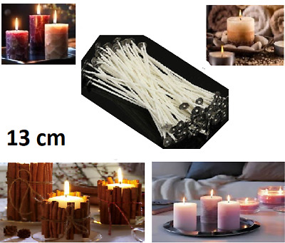 13cm Pre Waxed Wicks For Candle Making With Sustainers Wax Art Make Home