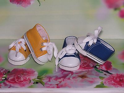 Shoes To Fit The American Galoob Baby Face Girl Doll 2 Pairs Of Tennis