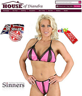 PVC Split Bra and Brief by Sinners (S1316)