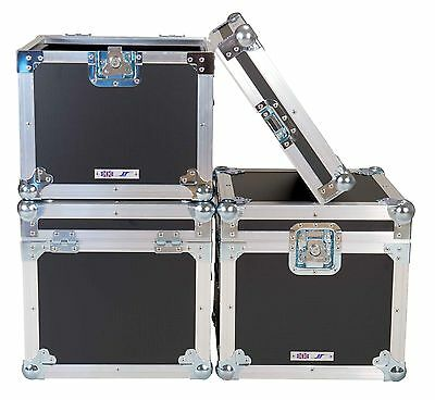 "BLACK 5 Star UK Manufactured Flight Case STACKABLE LP 100 12"" Vinyl Record Boxes"