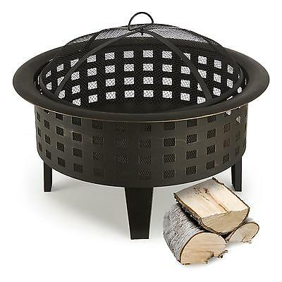 Blumfeldt Boston Fire Bowl Outdoor Garden Home Decor Warm Eve + Poker