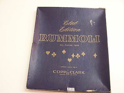 Vintage RUMMOLI Game Club Edition by Copp Clark Copyright 1940 Complete
