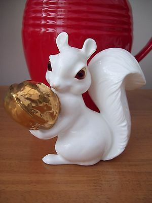 Royal Osborne Large Bone China Squirrel With Gold Walnut  1423