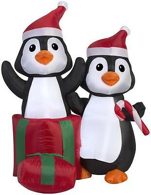 Gemmy 4' Airblown Penguin In Giftbox Christmas Inflatable