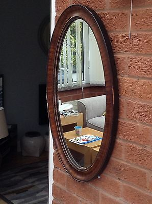 Antique Edwardian Inlayed Mahogany Mirror