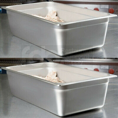 "Full Size 6"" Deep Stainless Steel Steam Prep Table Hotel Buffet Food Banquet Pan"