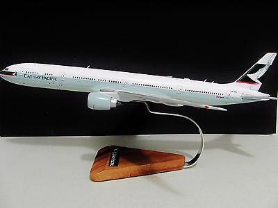 """Large Swire Cathay Pacific Boeing 777-367 Aircraft Plane Desk Model B-KPA  19.5"""""""