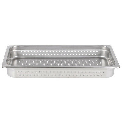 "Full Size 2 1/2"" Deep Stainless Steel Steam Prep Table Buffet Perforated Pan NEW"