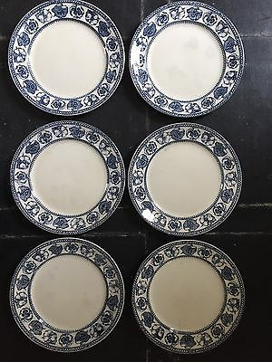 Antique Pansy Dinner Plates (6)