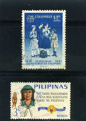 GIRLS SCOUTS OF COLOMBIA- PHILIPINES , 25th ANNIV.   [2]   used