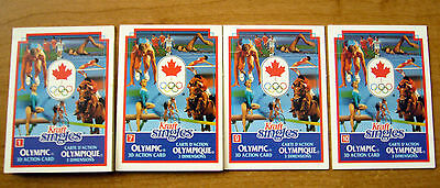 Kraft Singles Olympic 3D Pop Up Action Card Lot of 4