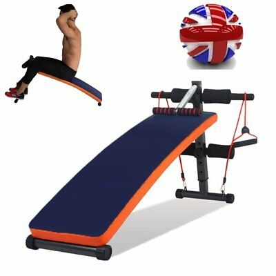 Folding Sit Up Bench Abdominal Ab Crunch Home Gym Fitness Exercise Muscle UK SUM