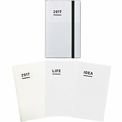 Kokuyo Jibun-Techo Notebook 2017 3 In 1 Set Nov. Start A5 Slim White New