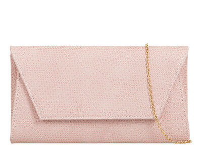 Faux Leather Snake Embossed Fashion Style Ladies Brand Evening Clutch Bags L758
