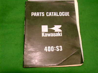 KAWASAKI 400 S3 USED GENUINE PARTS LIST BOOK MANUAL CATALOGUE (obru)